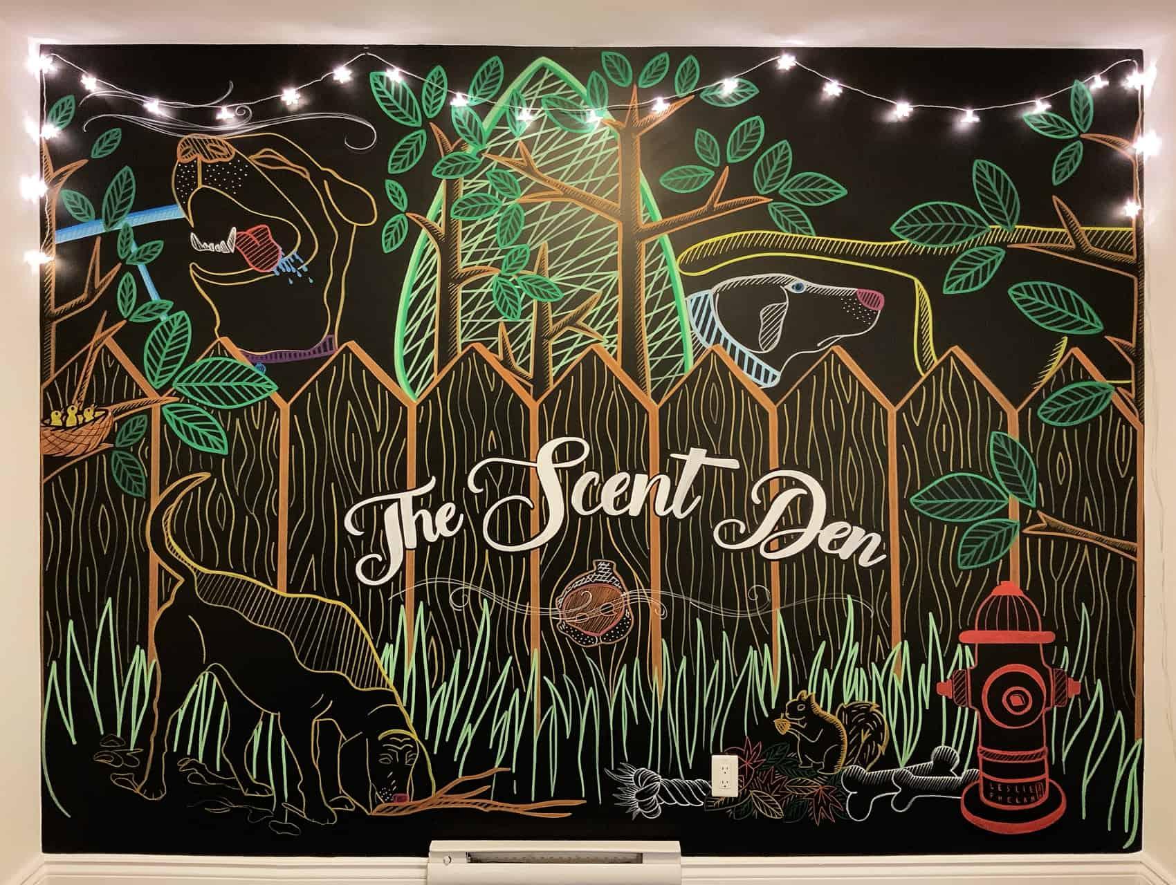 pet store mural, toronto mural art, hand-drawn artwork