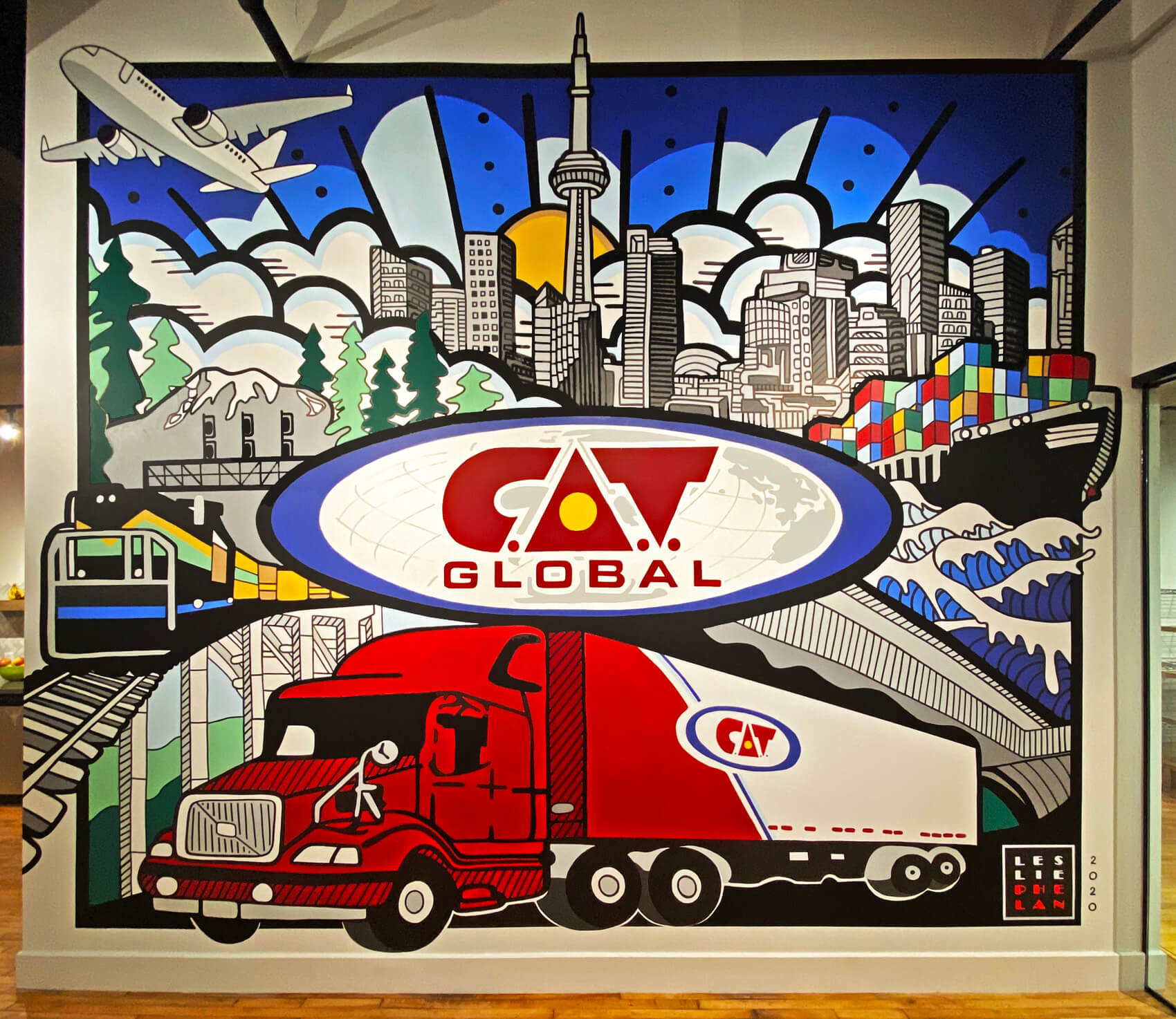 trucking mural wall art toronto